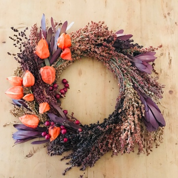 Forever Fall Wreath - real, dried botanicals