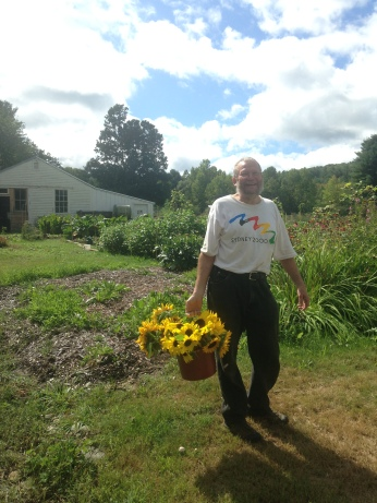 Steve with Sunflowers 2015